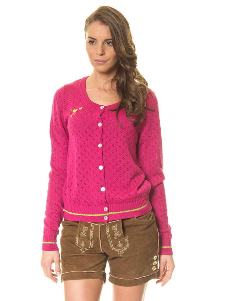 """Huber Mode & Tracht Gebreid vest """"Sabine"""" roze"""