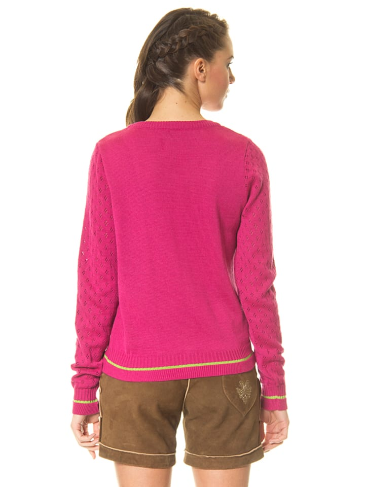 "Huber Mode & Tracht Strickjacke ""Sabine"" in Pink"
