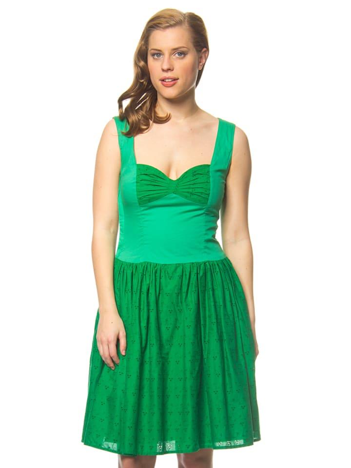 Blutsgeschwister Kleid in Grün