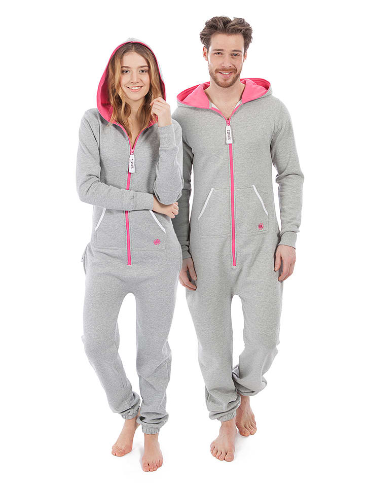 "ZipUps ZipUp ""Neon"" in Pink/ Grau"