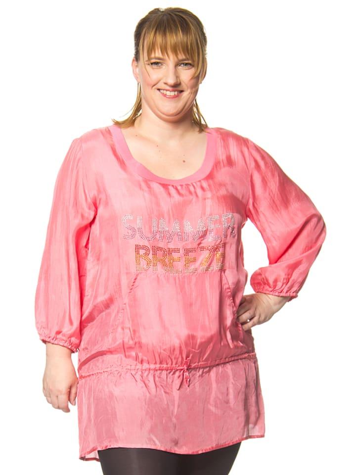 Lola Casademunt Seiden-Tunika in rosa
