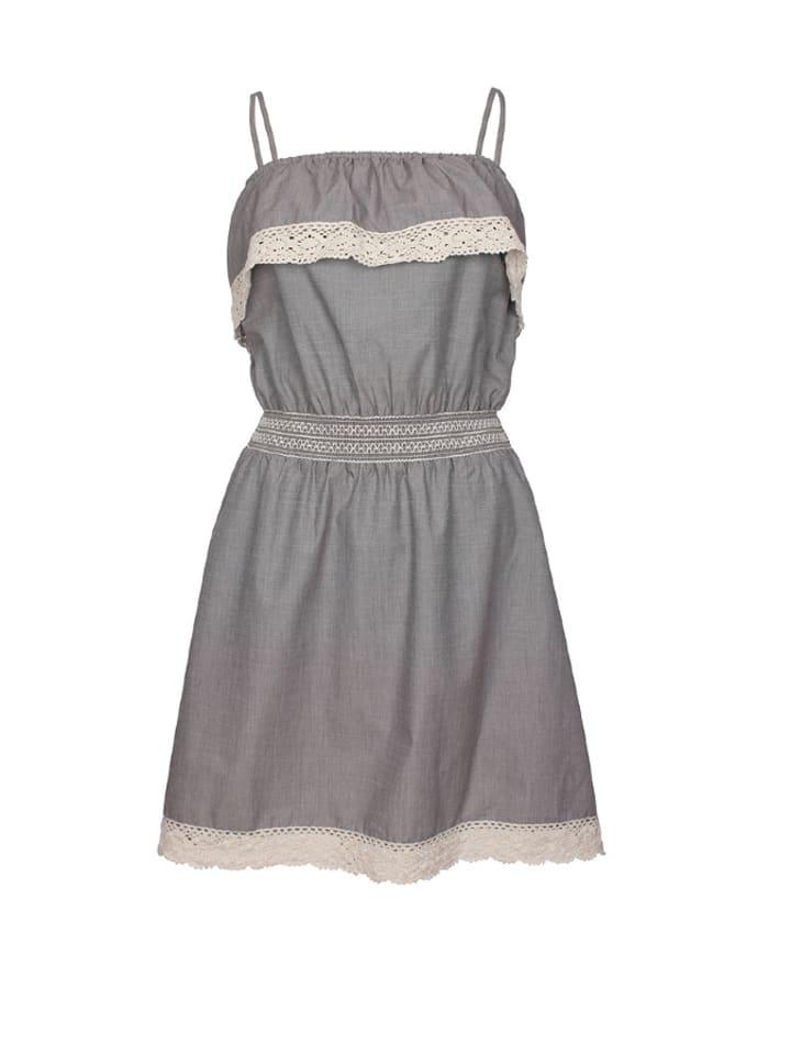 DreiMaster Kleid in Hellblau/ Creme