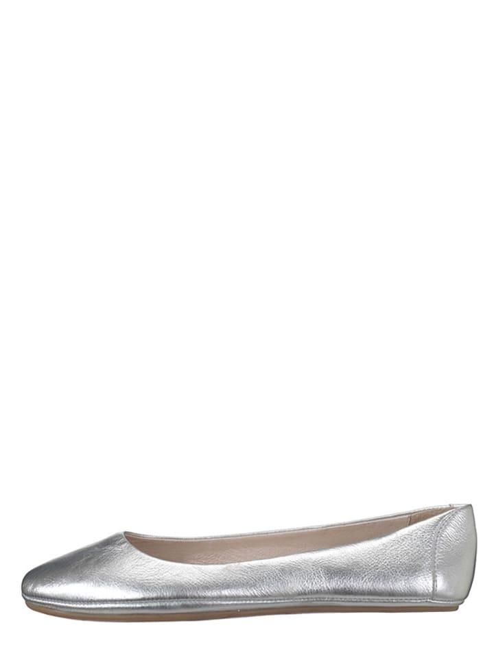 """Flip Flop Leder-Ballerinas """"Easy Going lea"""" in Silber"""