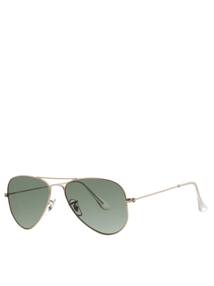ray ban aviator gold grün