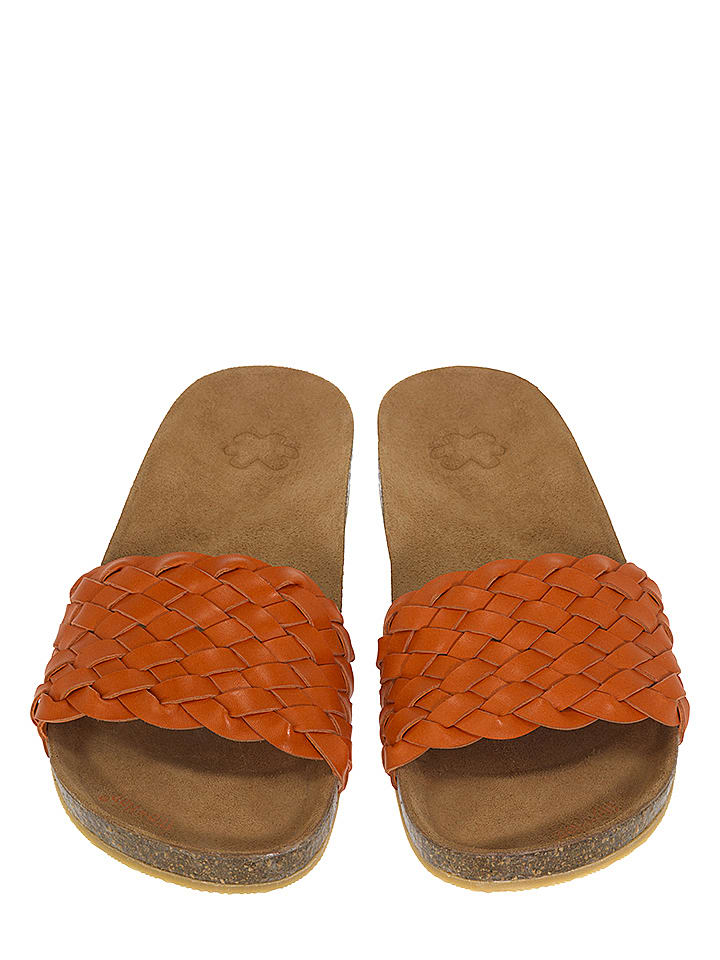 "Flip Flop Pantolette ""Toe Fu Braid"" in orange"