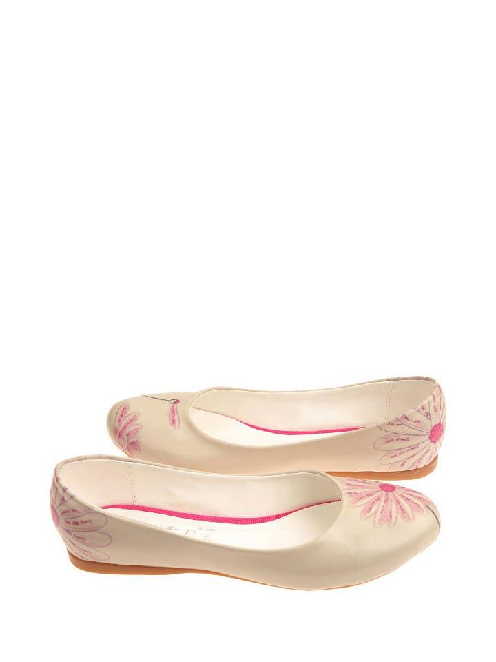 Goby Ballerinas in Beige/ Rosa