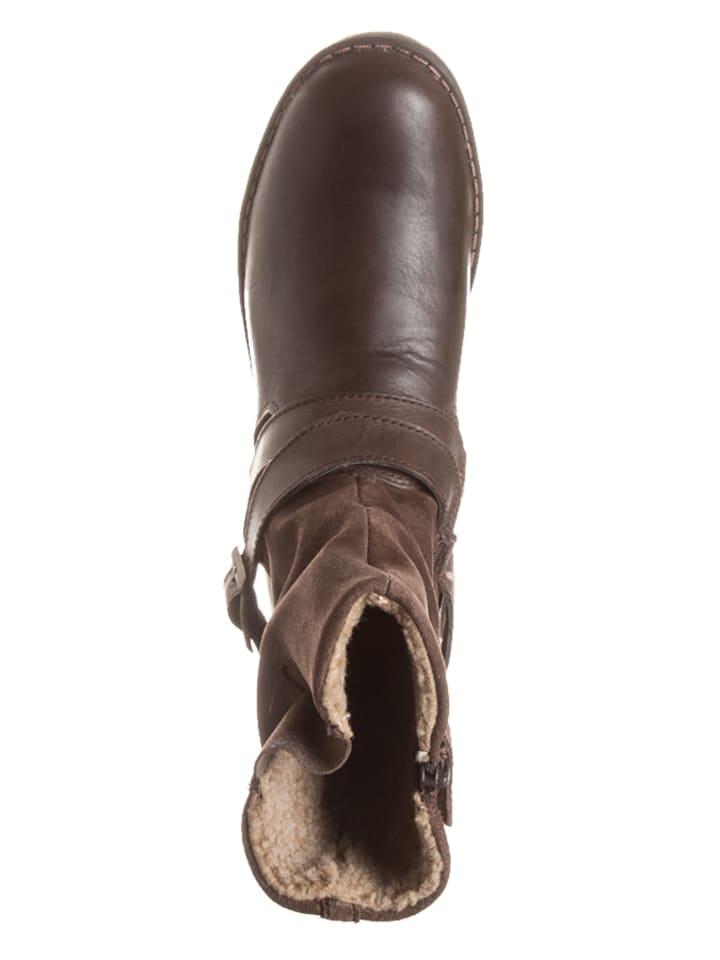 Pio Leder-Stiefel in Braun