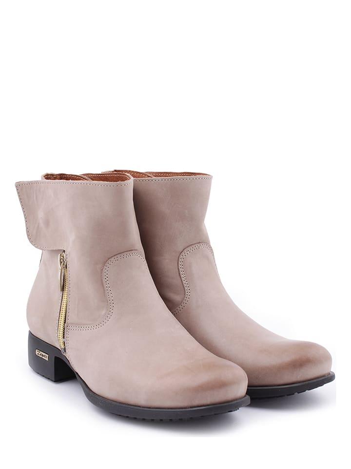 Zapato Leder-Stiefeletten in Beige - 49% Hx5KHfPU