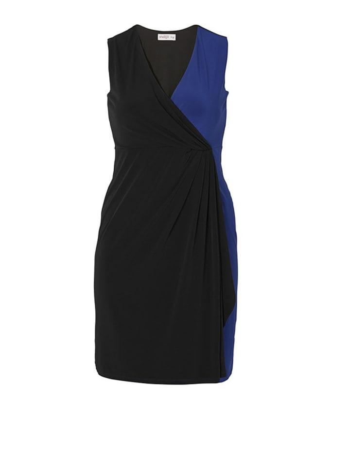 Sheego Kleid in Schwarz/ Blau
