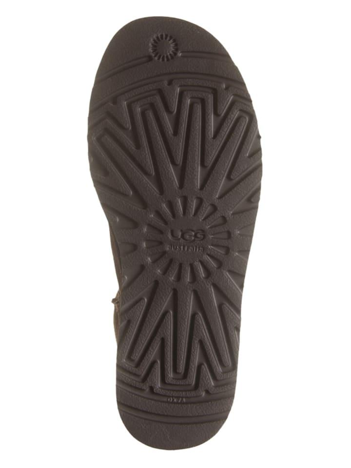 UGG Leder-Boots in Dunkelbraun