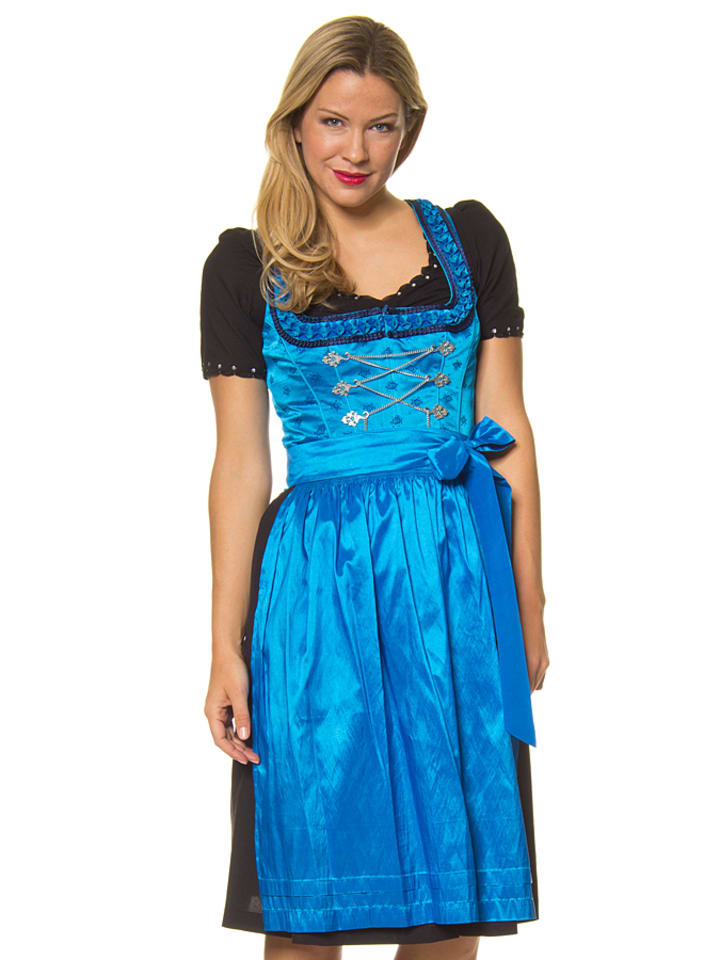 lekra midi dirndl willa in blau schwarz limango outlet. Black Bedroom Furniture Sets. Home Design Ideas