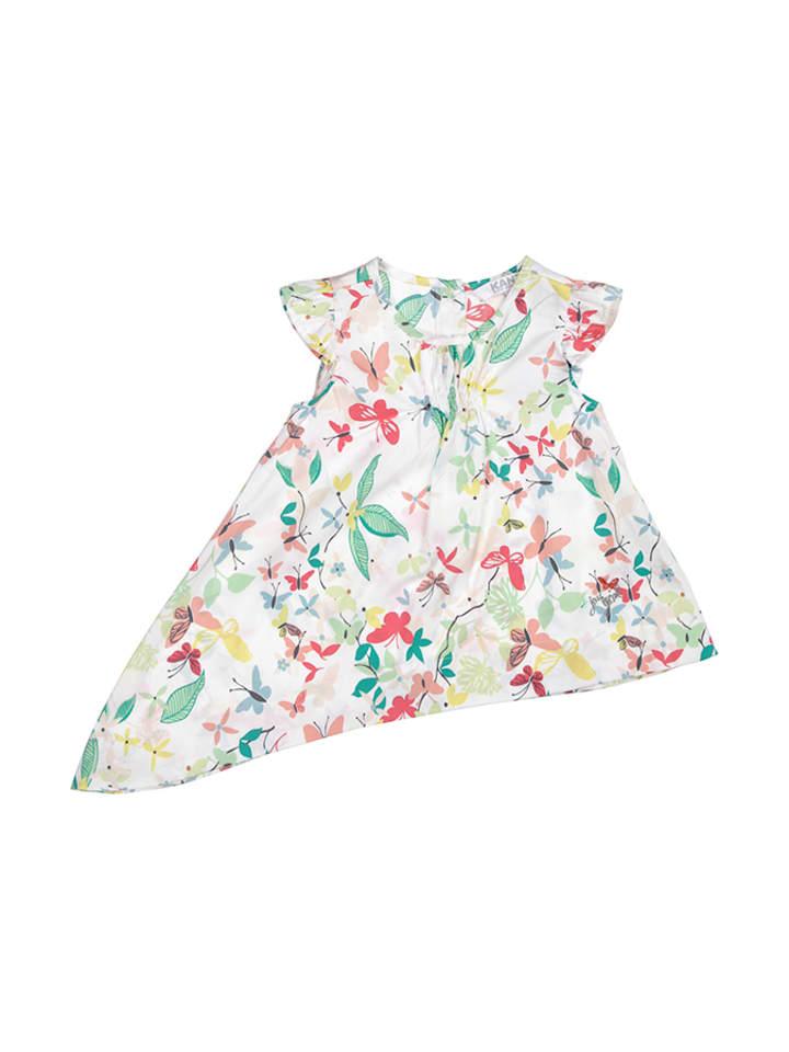 Kanz Tunika w kolorze białym w kwiaty
