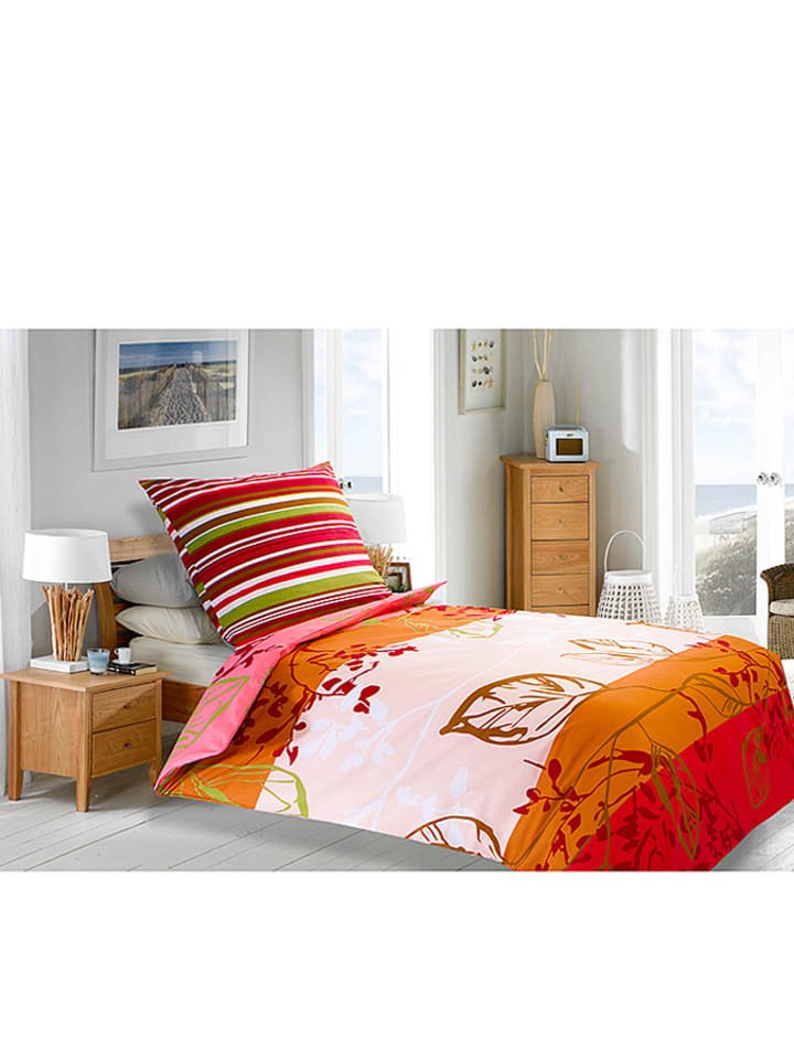 magenta home bettw sche set in beige orange rot limango outlet. Black Bedroom Furniture Sets. Home Design Ideas