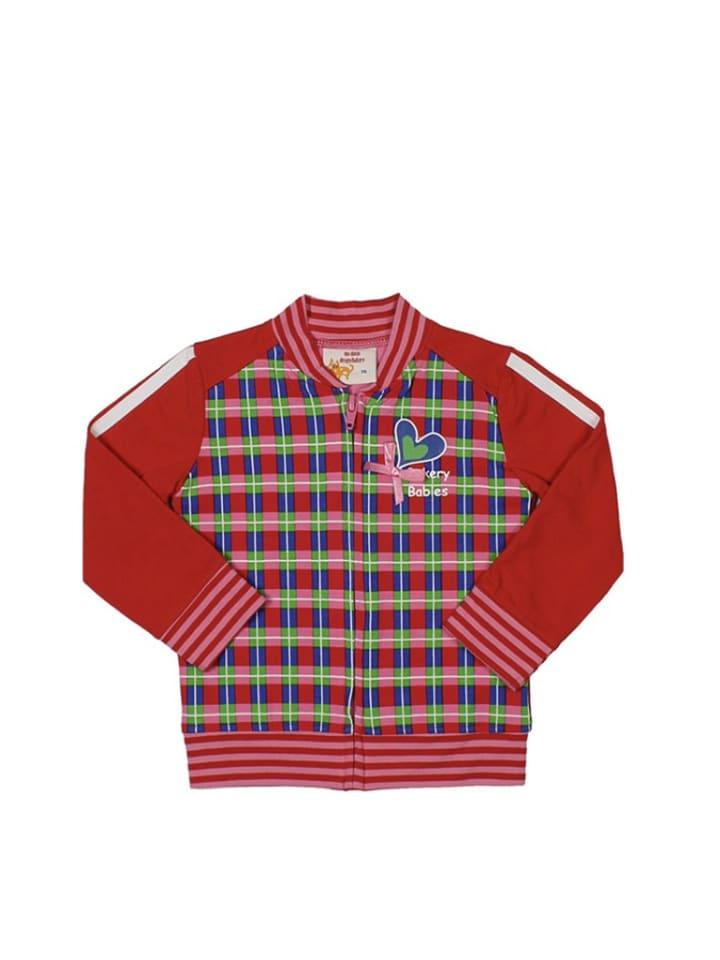 Dutch Bakery Bluza w kolorze czerwonym ze wzorem
