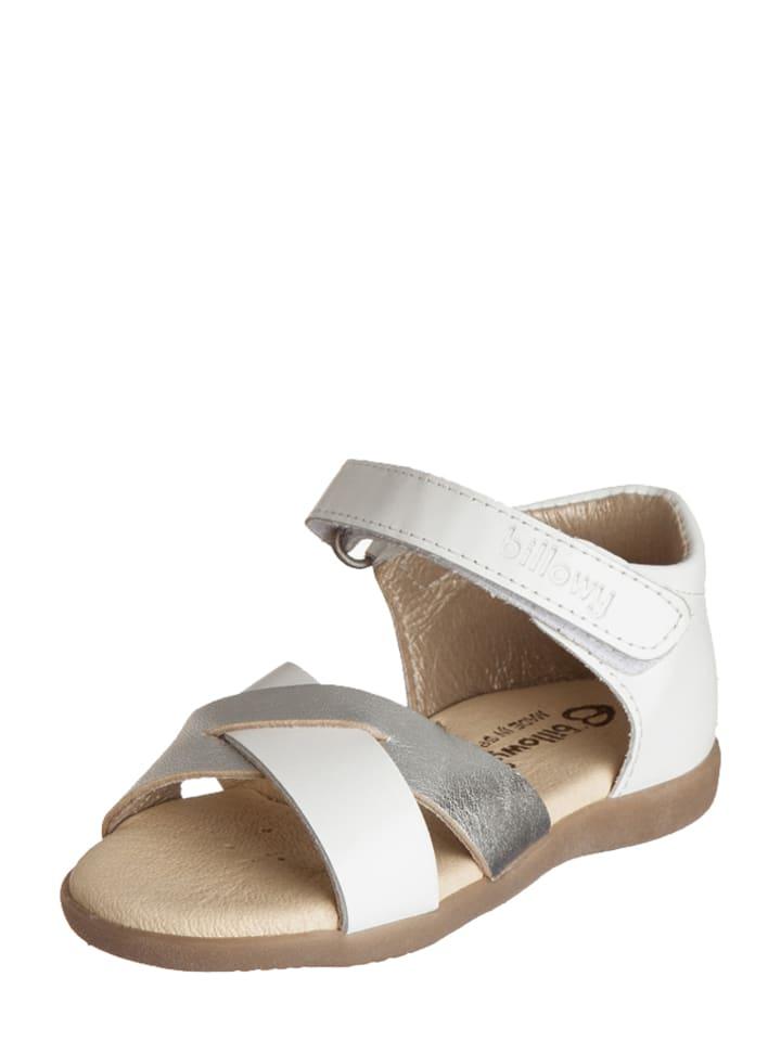 Billowy Leren sandalen wit/zilver