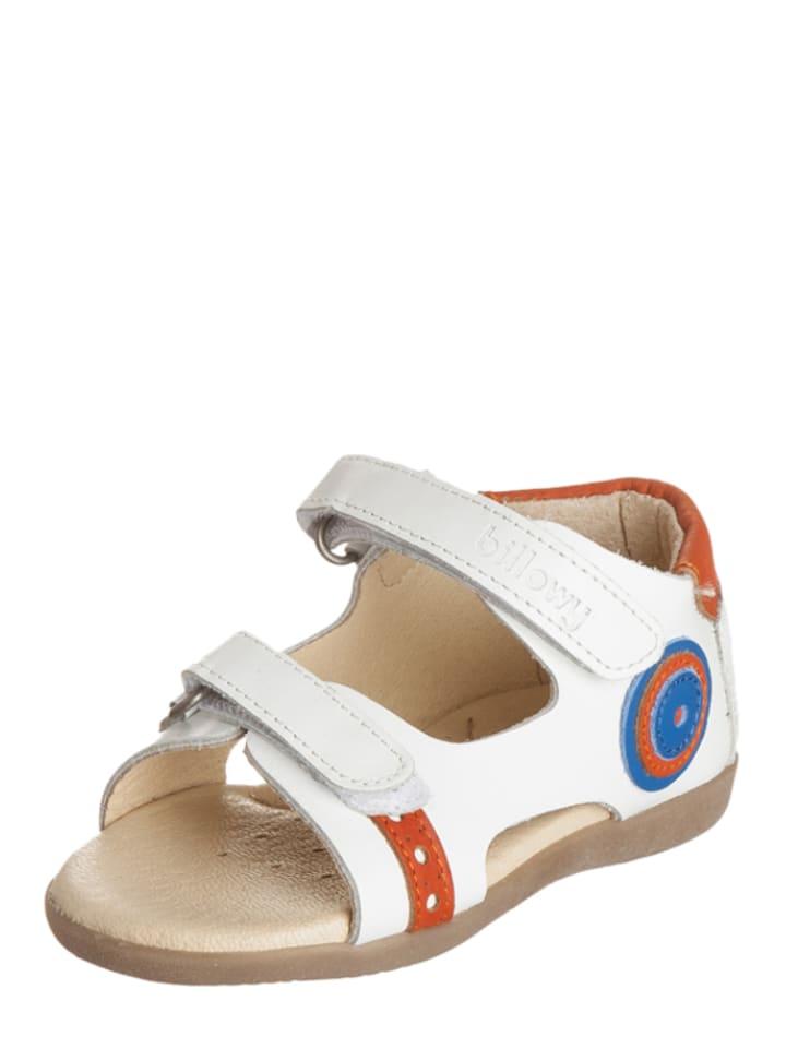Billowy Leren sandalen wit/meerkleurig