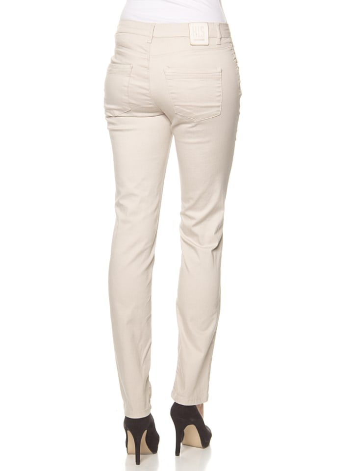 """H.I.S Hose """"Marilyn"""" - Skinny fit - in Creme"""