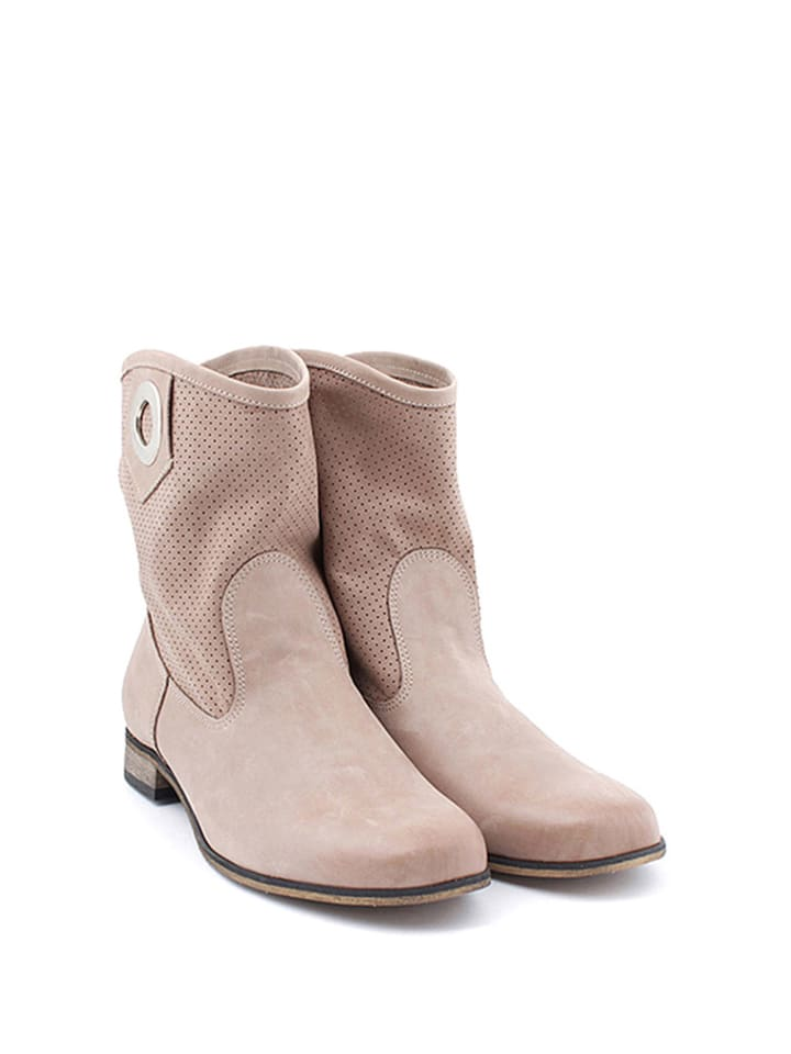 Zapato Leder-Boots in Cappuccino