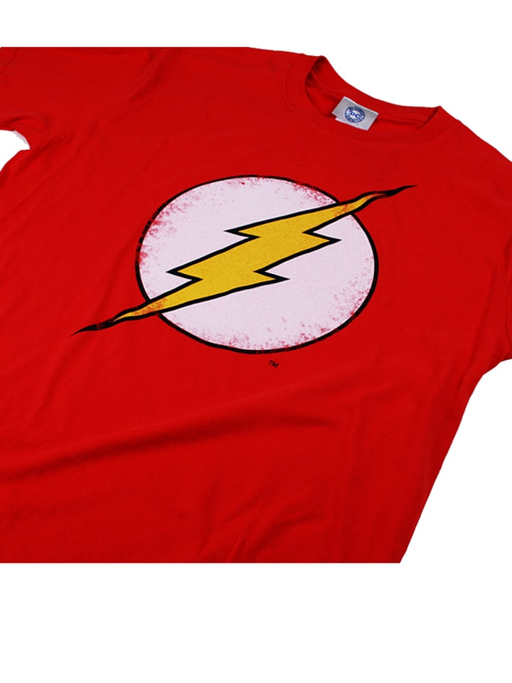 "DC Comics Shirt ""Flash Distress"" in Rot"