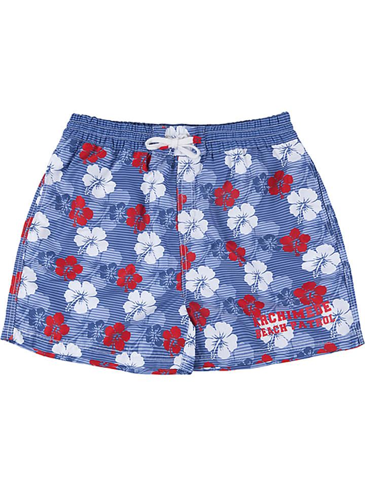 """Archimède Szorty kąpielowe """"Hawaii"""" w kolorze niebiesko-czerwonym"""