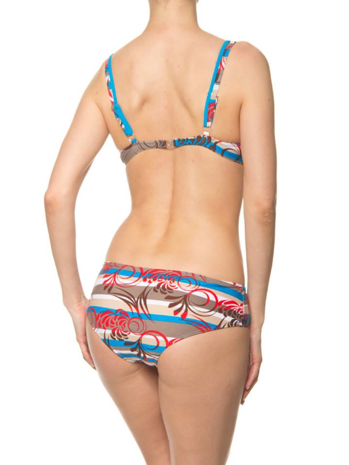 Naturana Bikini in Hellblau/ Weiß/ Rot