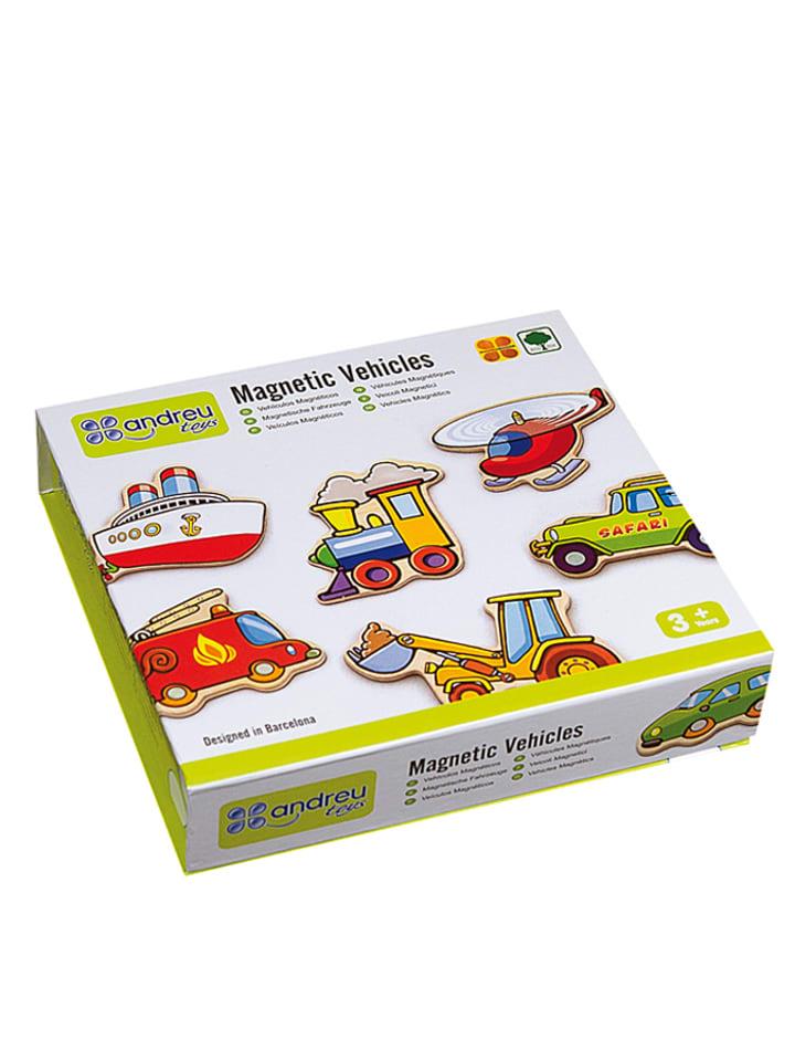 "Andreu Toys Pudełko z magnesami ""Vehicles"""