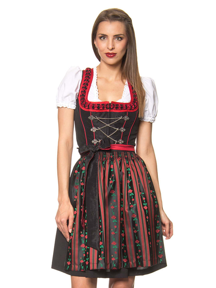 lekra mini dirndl hemberg in schwarz rot limango outlet. Black Bedroom Furniture Sets. Home Design Ideas