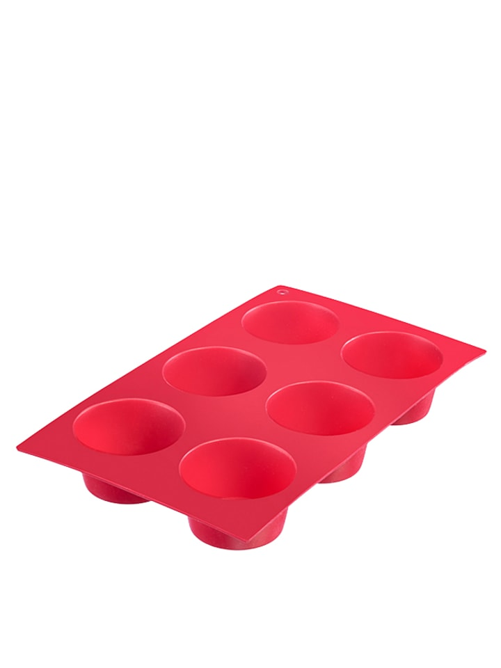 """Westmark Muffin-Backform """"Classic"""" in Rot - (B)29,5 x (T)17,5 cm"""