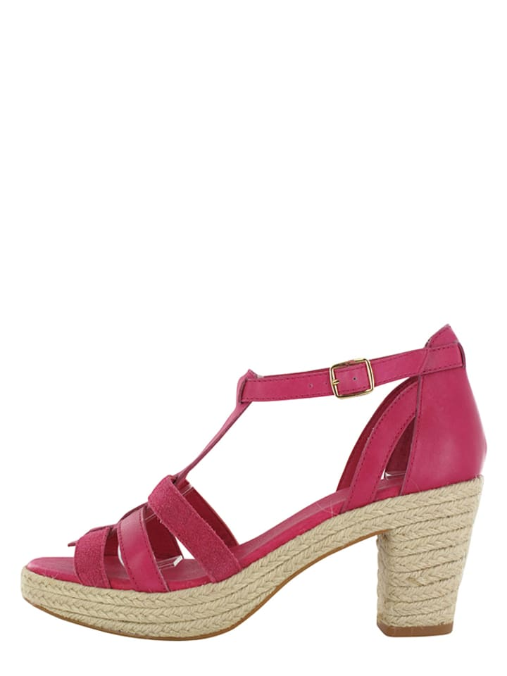 """Flip Flop Leder-Sandaletten """"Coconut"""" in Beige/ Pink"""