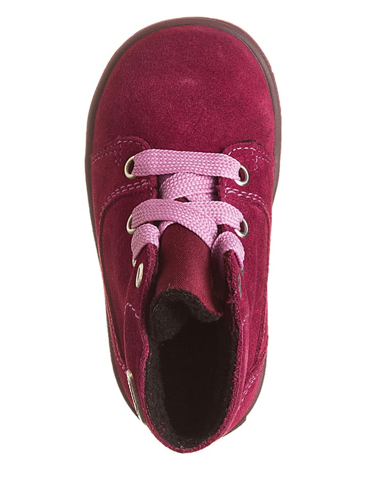 Richter Shoes Leder-Sneakers in Fuchsia