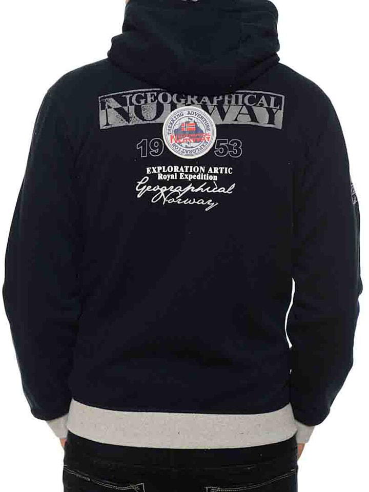 "Geographical Norway Sweatjacke ""Flyer"" in Schwarz"