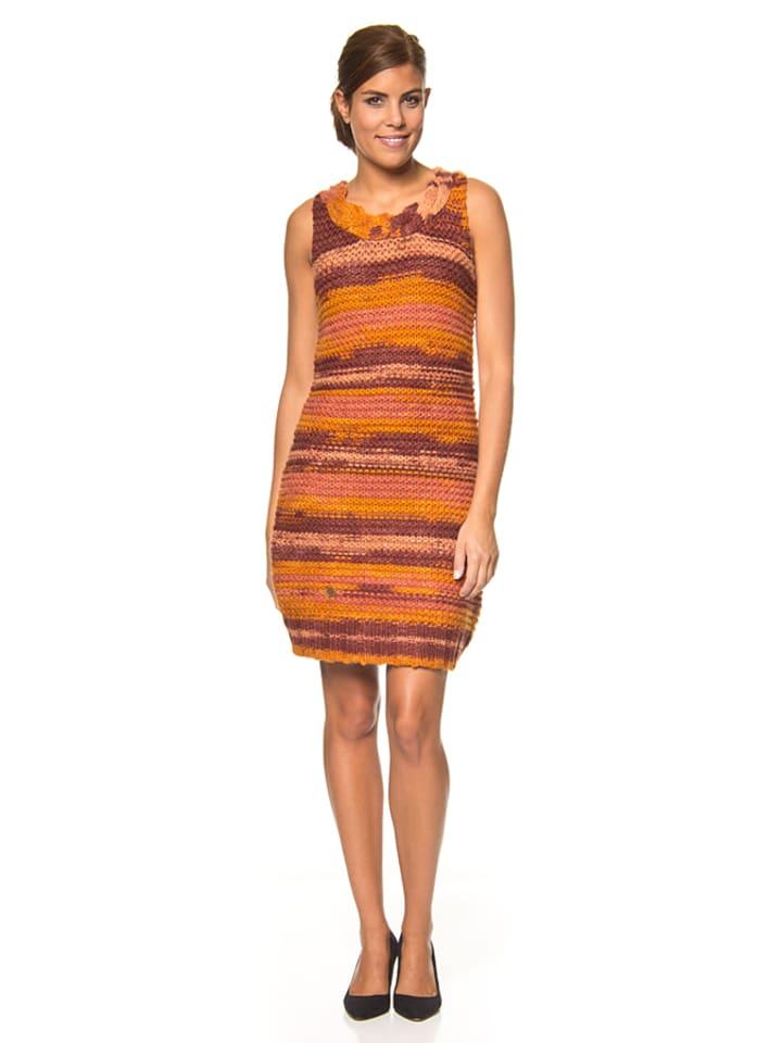 "Blutsgeschwister Kleid ""Wilmas"" in Orange/ Lila/ Rosa"