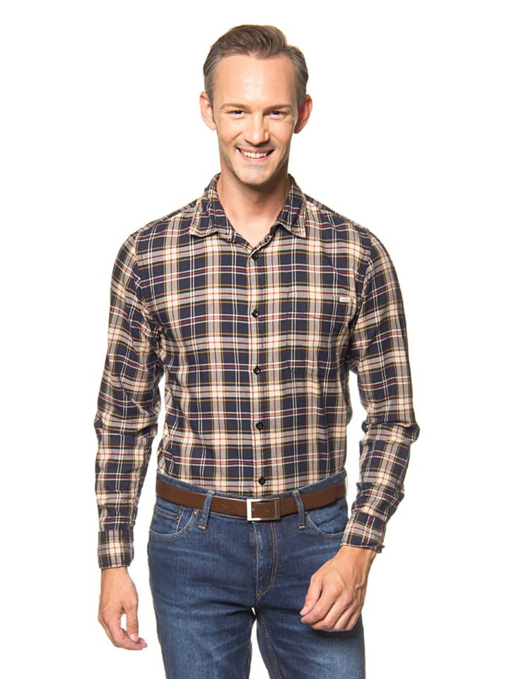"""Jack & Jones Hemd """"Oakley"""" in Blau/ Rot/ Beige"""