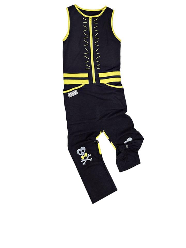 """Vicious Wear Pajacyk """"Black Hopper"""" w kolorze czarno-żółtym"""