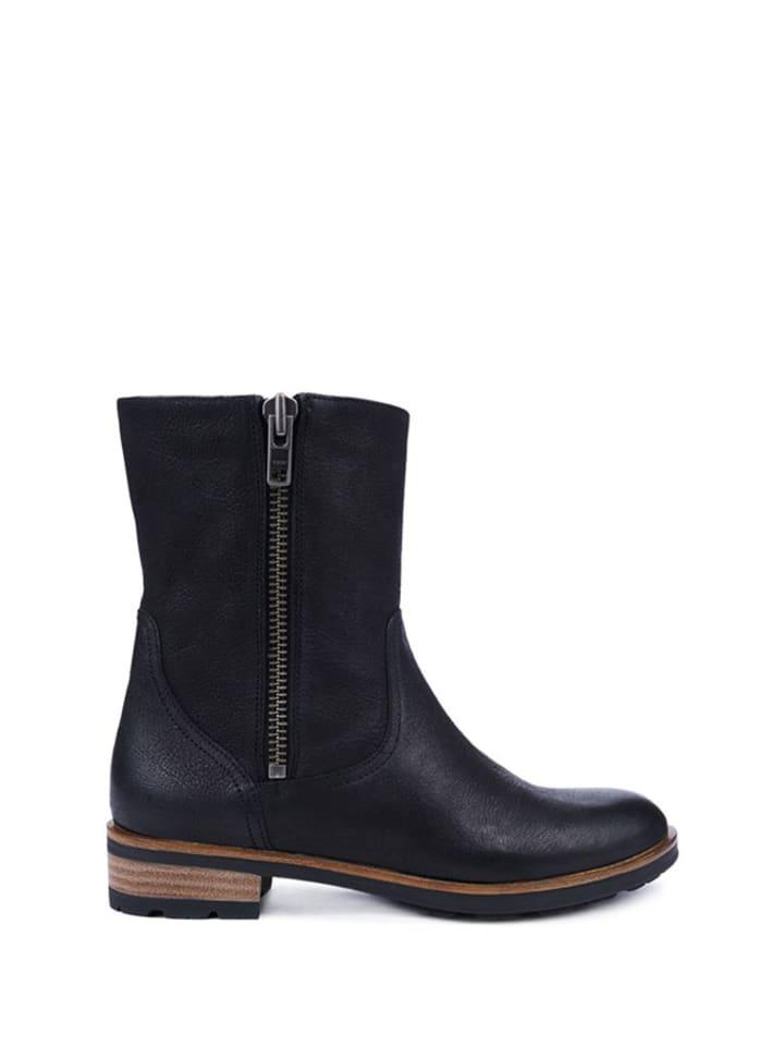Gino Rossi Leder-Boots in Schwarz