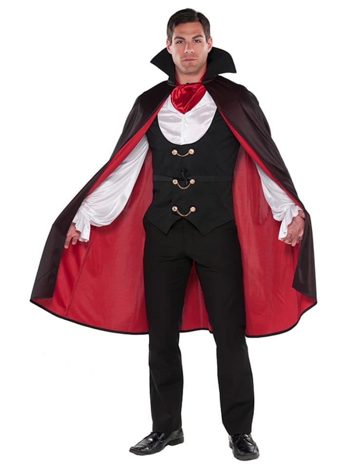 """Amscan 3tlg. Kostüm """"True Vamp"""" in Schwarz/ Rot/ Weiß"""