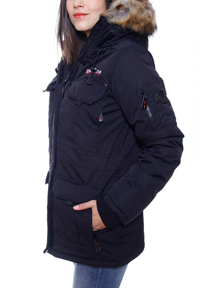 "Geographical Norway Parka ""Alcatras"" in Schwarz"