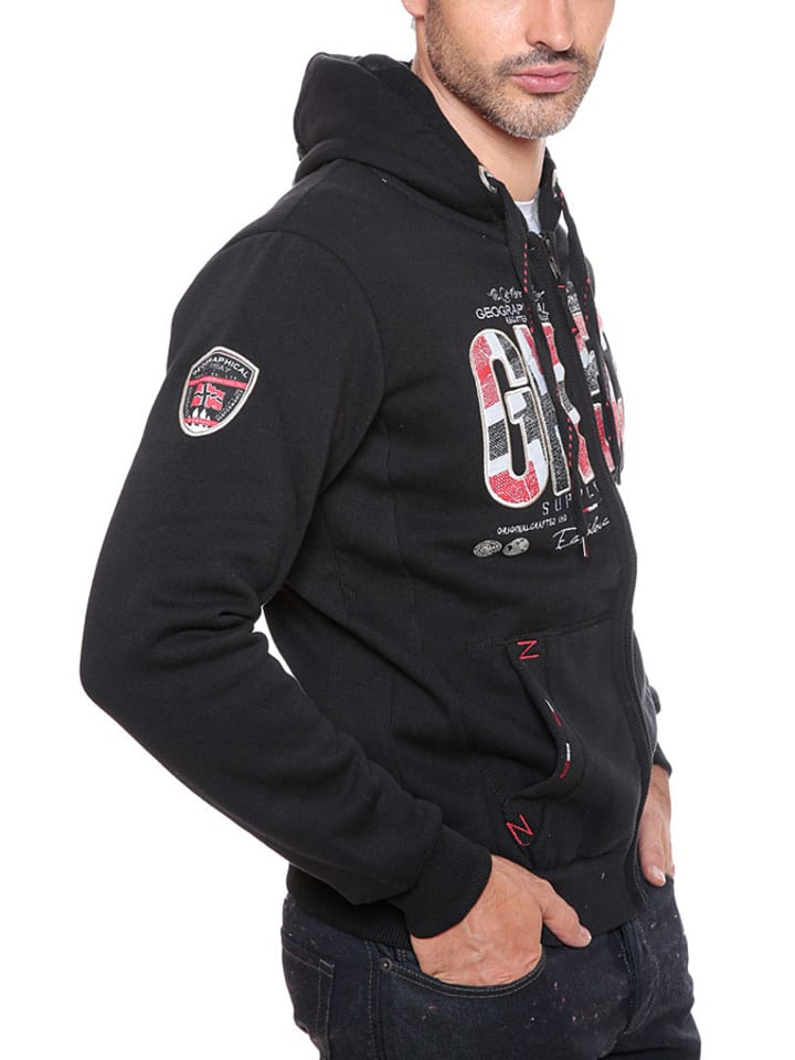 "Geographical Norway Sweatjacke ""Frouti"" in Schwarz"
