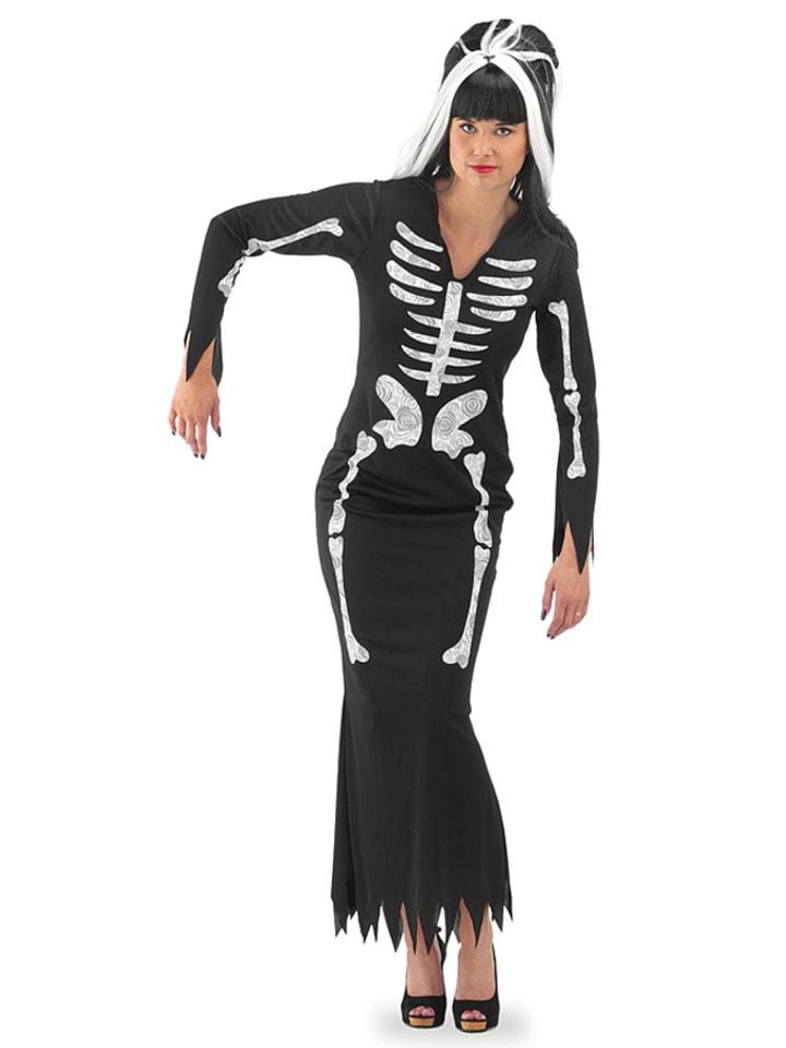 """FOLAT Kostümkleid """"Halloween"""" in Schwarz/ Weiß"""