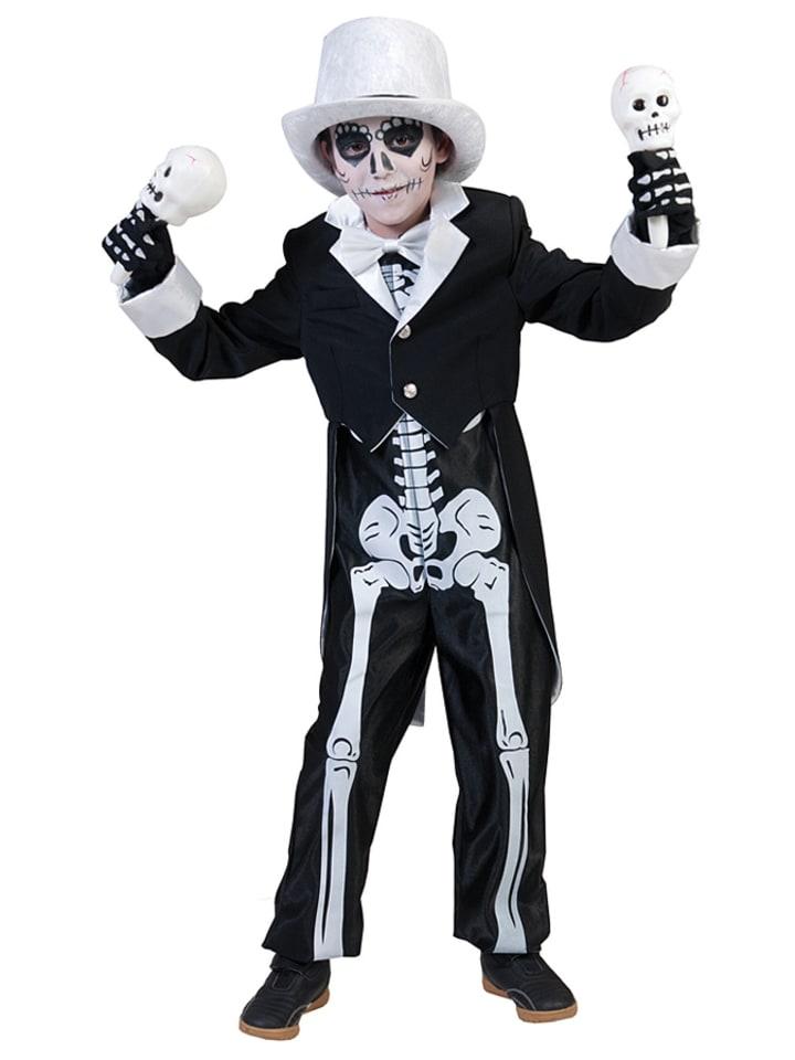 Funny Fashion 2tlg. Kostüm Horror Bräutigam in Schwarz/ Weiß