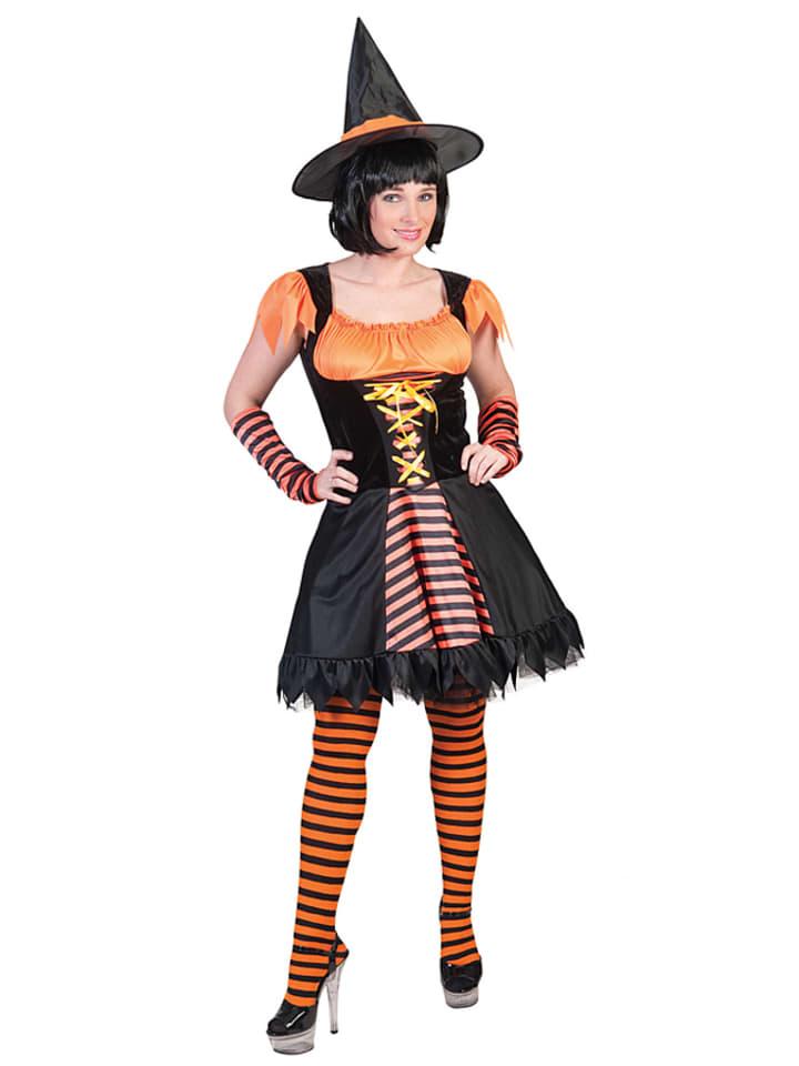 """Funny Fashion Kostümkleid """"Hexe Orangina"""" in Schwarz/ Orange"""