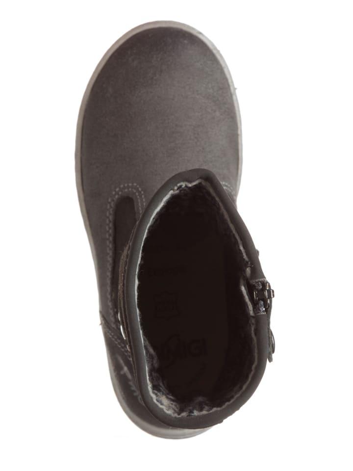 Primigi Leder-Boots Ghirza in Grau/ Anthrazit