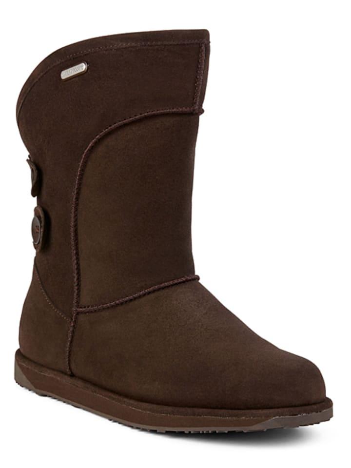 EMU Schaffell-Boots Charlotte in Dunkelbraun