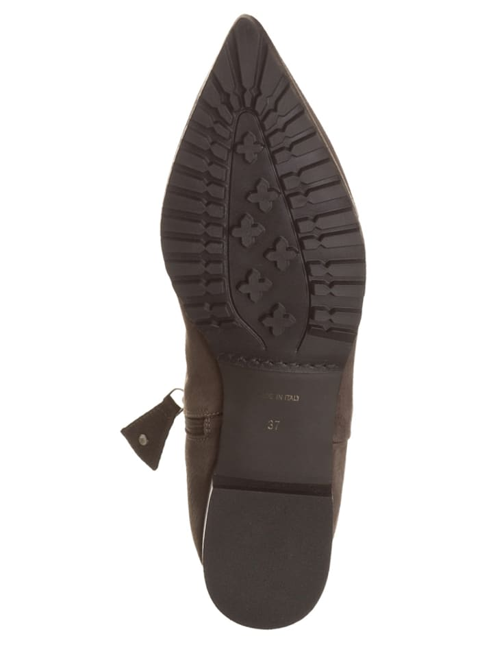 Otto Kern Leder-Ankle-Boots in Taupe
