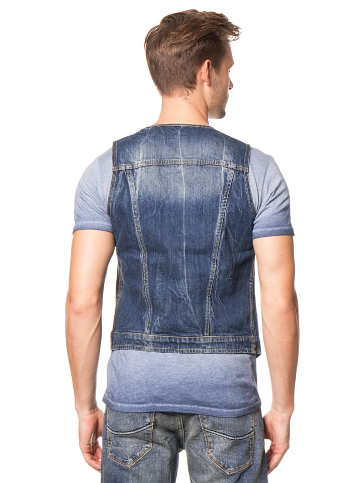 "Herrlicher Jeansweste ""Idan"" in Blau"