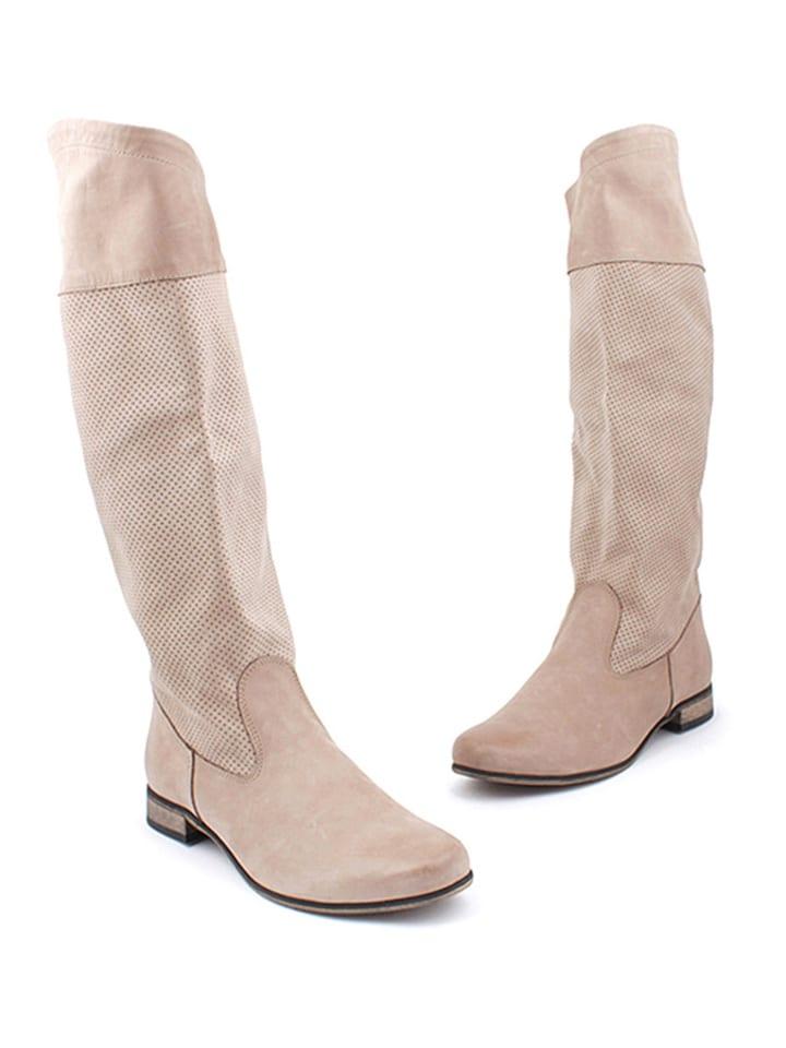Zapato Leder-Stiefel in Cappuccino
