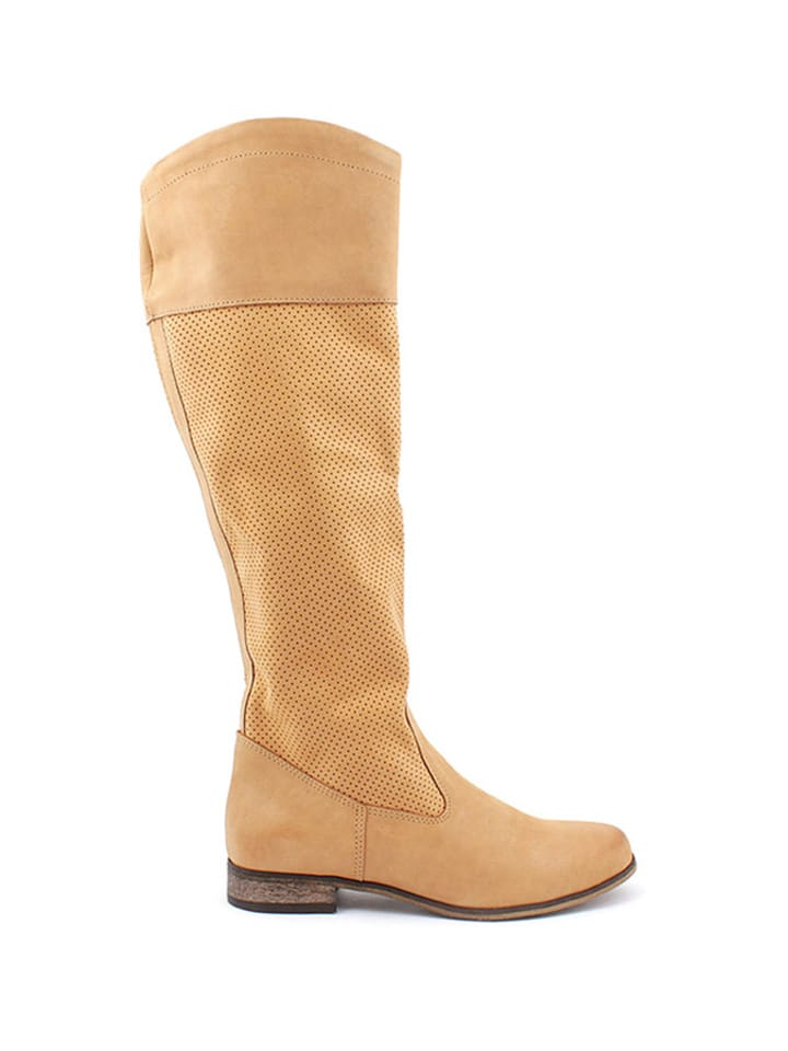 Zapato Leder-Boots in Hellbraun - 69% y49JNG
