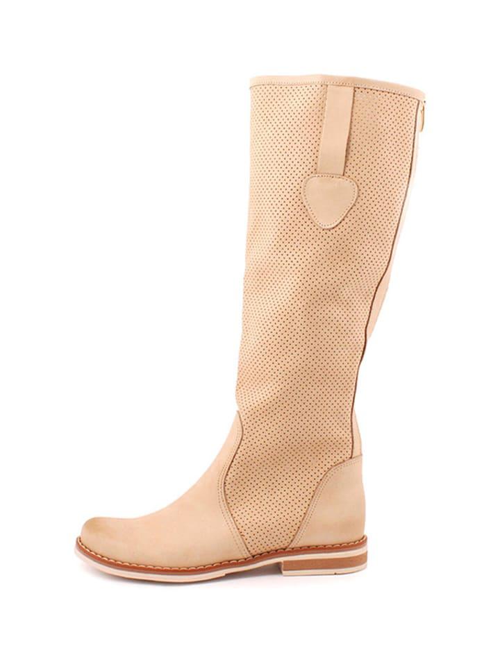 Zapato Leder-Stiefel in Beige