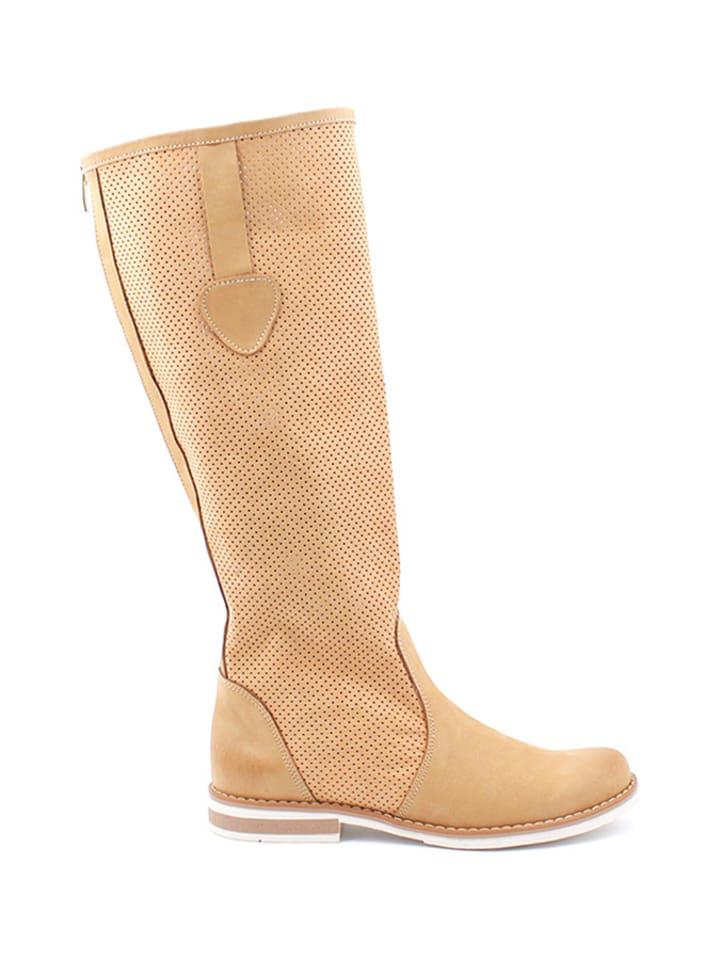 Zapato Leren laarzen camel