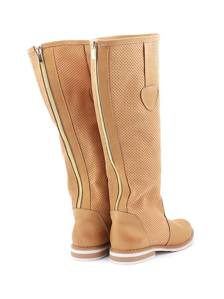 Zapato Leder-Stiefel in Sand - 63% 2gFztK0FB